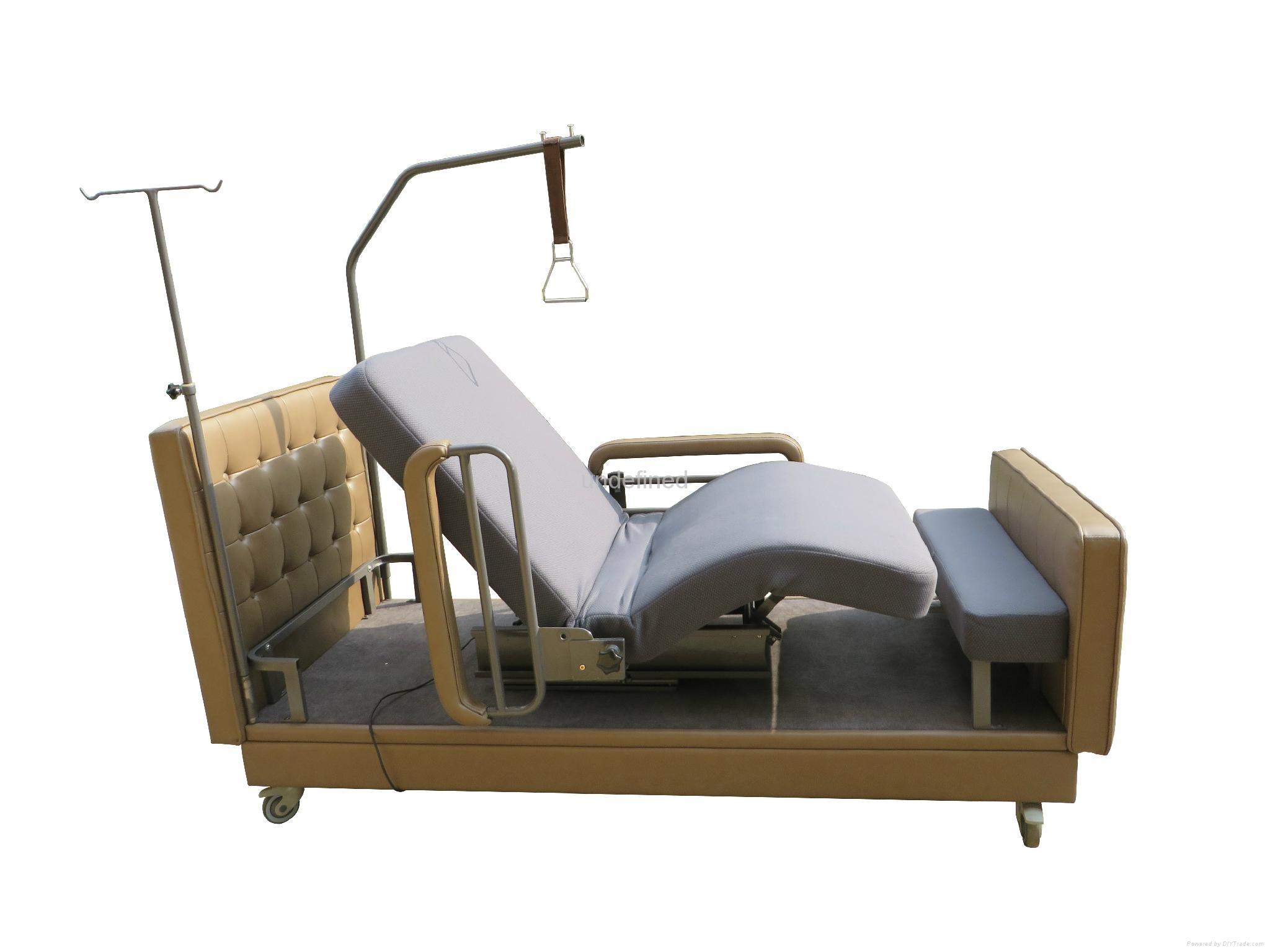 Home Use Hilo Rotation Latex Mattress Adjustable Bed Jj