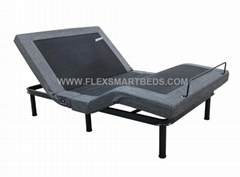 Foldable Adjustable Bed With Massage USB Port and LED Light