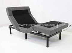 Modern Luxury FLS007 Electric Adjustable Bed, With Massage, LED Light