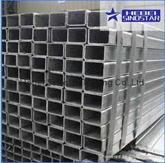 Hot Dipped Galvanized Rectangular section Steel tube