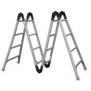 Step ladders and stools with safe landing and man-endurable characteristics