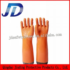 Labour protection glove double dipped nylon gloves