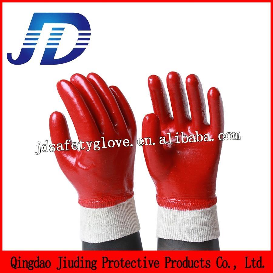PVC nylon gardening gloves 2