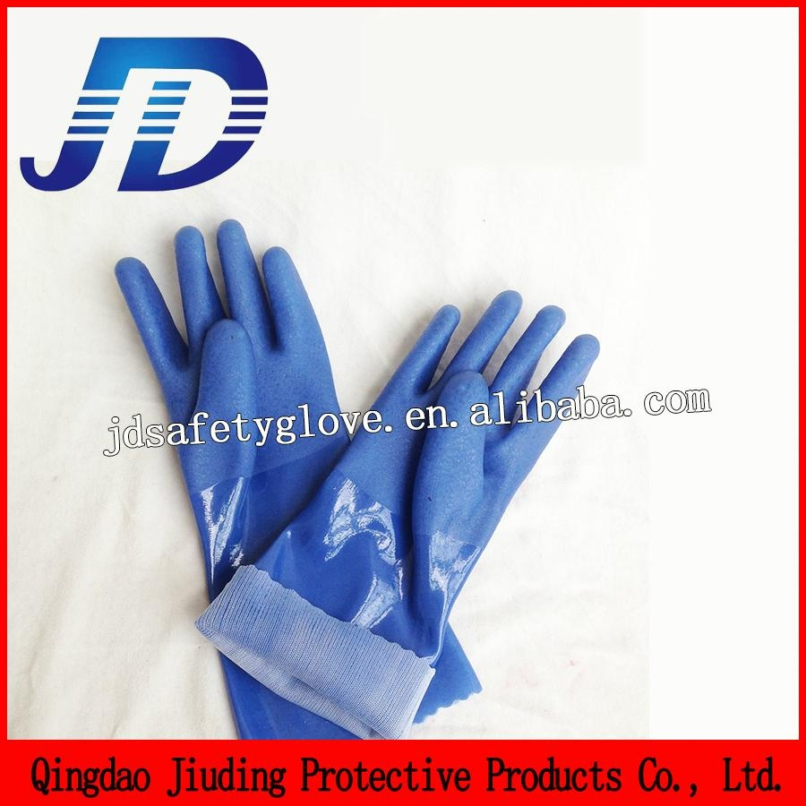 blue frosted safety working gloves 1