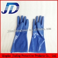 blue frosted safety working gloves 5