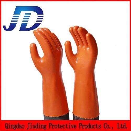 PVC oil resistant nylon work gloves 1