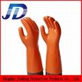 PVC oil resistant nylon work gloves