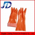PVC oil resistant nylon work gloves 5
