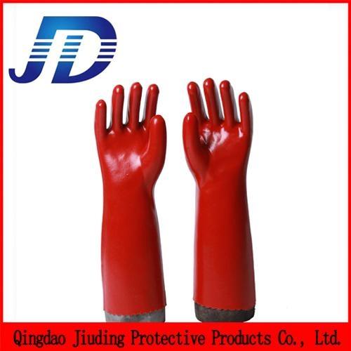 PVC oil resistant nylon work gloves 4