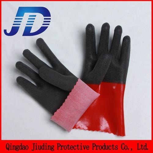 China wholesale security equipment PVC nylon core work gloves 5
