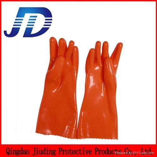 PVC mechanical working gloves nylon gloves 3