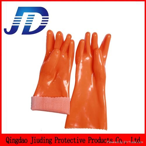 PVC double dip heavy industrial safety working gloves 2