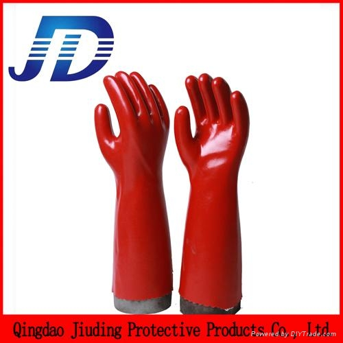 PVC double dip heavy industrial safety working gloves 3