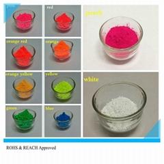 Fluorescent bulk organic