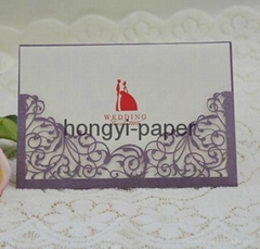 laser wedding invitation card