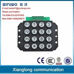 16 keys public phone industrial phone keypad electronic keypad