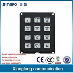 3x4 phone-style matrix plastic keypad