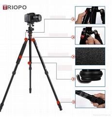 TRIOPO MT-2504X8.C+NB-1S tripod kit ,aluminium alloy tripod and SLR camera  trip