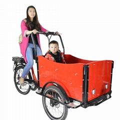 Europe 3 wheel family cargo bike electric/ family trike for kids