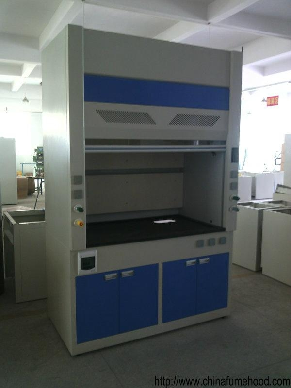 Chemical Exhaust Hood With Black Lab Bench Board For