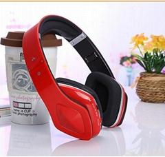 Wireless Bluetooth headphone Folding sports mp3 music player headset with fm