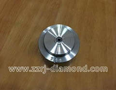 Polycrystalline diamond shaving dies