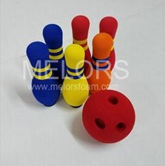 Melors Light Non-odor Kid Play Safe EVA Foam Bowling Ball Set