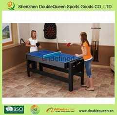 Doublequeen mini billiard table table tennis table and air hockey table