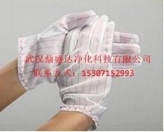 湖北武漢加厚防靜電條紋手套