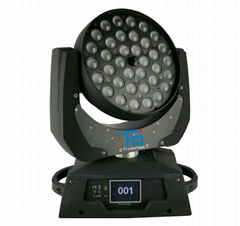 36*18W RGBWA UV 6in1 LED Wash & Zoom Moving Head Light