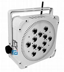 白色外殼12*18W六合一無線電池帕燈
