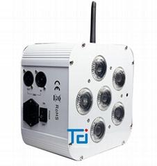 白色外壳6*18W六合一无线电池帕灯