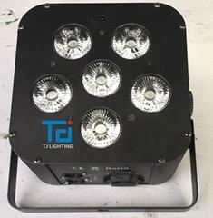 黑色外壳6*18W六合一无线电池帕灯