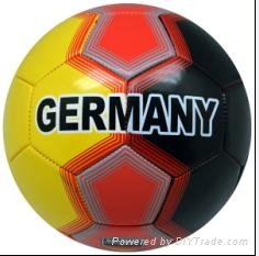 size 5 customized machine sewn football with country name 2