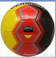 size 5 customized machine sewn football with country name 1