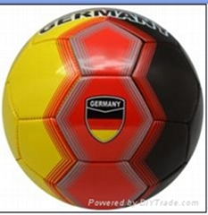 size 5 customized machine sewn football with country name