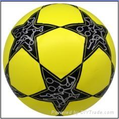 star laminated football ball number 5 1