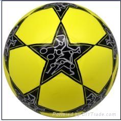star laminated football ball number 5 3