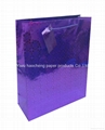 Holographic paper bag