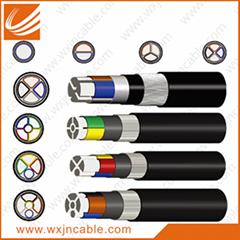 0.6/1KV VLV23-Aluminium Conductor PVC Insulated Steel Tape Armoured PE Sheathed