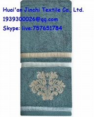 100% cotton fancy Yarn Dyed gift towel