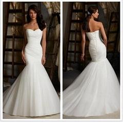 Hot sale White Sexy Sweetheart Minimalist Mermaid Wedding Dresses 2015 Vestido D