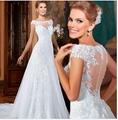 Vestido De Noiva A-Line Floor Length Appliques Tulle Csutomize Lace Elegant Wedd