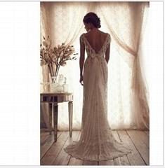 2014 Vintage Wedding Dresses Sheer Anna