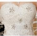 Fashion Wedding Dresses Bride Bandage Drill Lace Princess Dress Wrapped Chest Ba
