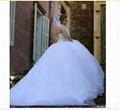 Said Mhamad 2015 Long Sleeve Wedding Dress vestidos de noiva Ball Gown Bridal Go