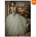 2015 Sexy Corset Beading Sweetheart Weddingl Gown Without Train vestidos de noiv 3