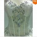 2015 Sexy Corset Beading Sweetheart Weddingl Gown Without Train vestidos de noiv 4