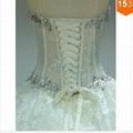 2015 Sexy Corset Beading Sweetheart Weddingl Gown Without Train vestidos de noiv 5