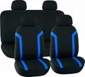 CAR SEAT COVERS BLACK & BLUE Mesh